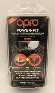 Opro Hi-Tech Self-Fitting Power-Fit Mouth Guard + Power Cage Rugby Hockey MMA