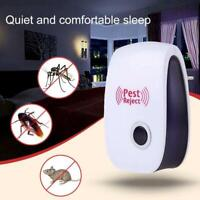 Ultrasonic Electronic Pest Reject Repeller Anti Mosquito Killer Bug Safe T1Y5