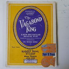 vocal score THE VAGABOND KING