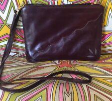 ❤️Vintage Bonwit Teller Burgundy Leather Shoulder Bag Handbag Made in Italy