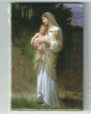 """L'Innocence by Bouguereau, Fridge Magnet - 3"""" x 2"""", Made in Italy, Madonna Child"""