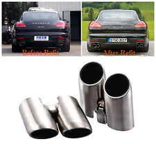 HIGH Stainless Steel Exhaust Pipe Muffler Tip Set For 2014-2016 Porsche Panamera