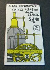 US Booklet Stamps Scott# BK163 Steam Locomtives 1987 MNH L239