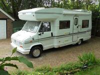 1986  Fiat Ducato Diesel Swift Kon-tiki 6 berth motorhome campervan 71032 miles