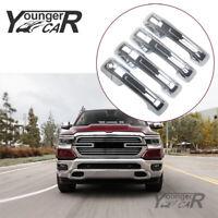 For 2019-2021 Dodge Ram 1500 Chrome Door Handle Cover Trims ABS NO Smart Keyhole