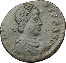 HONORIUS crowned by VICTORY 395AD  Ancient Genuine Roman Coin  i29881