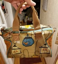 FOSSIL Key Per BIRD CAGE Doctor Style Purse Bag