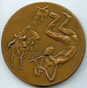 FRANCE ARISTIDE MAILLOL FRENCH SCULPTOR PAINTER BRONZE MEDAL BY COUTURIER