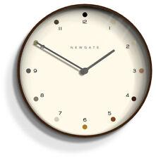 NEWGATE CLOCKS Mr Clarke Modern Round Brown Wood Dining Room Wall Clock 40cm