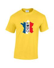 Geraint Thomas 'G' TdF 2018 Winner Map Mens Pro Road Cycling T-Shirt