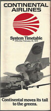 Continental Airlines system timetable 2/25/75 [8102]