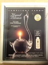 """LAMPLIGHT FARMS MASTERPIECE SERIES HAND BLOWN GLASS OIL CANDLE 7 1/2"""""""
