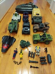 G.I Joe Vintage 80s Mixed Weapons Figures Vehicles Accessories HUGE Whale Lot