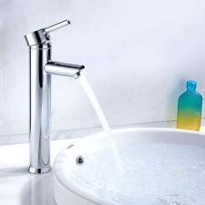 Grifos Cromado moderno de baño Lavabo mono mezclador ronda alta monomando grifo