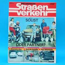 Der Deutsche Straßenverkehr 9/1987 MZ ETZ 250 Peugeot 405 HP 500 Haff Wolgast F