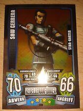 Force Attax Star Wars Serie 4 Star-Karte Nr.208 Saw Gerrera Sammelkarte