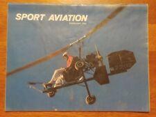 Sport Aviation Magazine February 1982 EAA Ken Brock and his KB-2 Kerrville '81