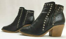 DOROTHY PERKINS Ladies Womens Boots Size UK 3 EU 36 Black Studded Ankle Boots