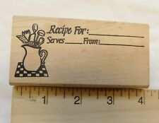 RECIPE FOR: Wood Mount Rubber Stamps Love You Too USA Vintage
