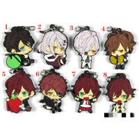 Anime DIABOLIK LOVERS Rubber keychain Key Ring Race Straps cosplay