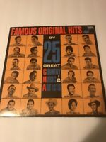 Famous Original Hits by 25 Great Country Music Artists Record Album CMA 712