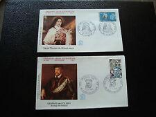 FRANCE - 2 envelopes 1st day 1973 (ste-thérèse /coligny) (cy59) french (Z)