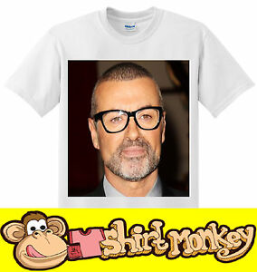 George Michael Wham RIP T-shirt  Ladies + Mens XS - XXL Many Colours available.