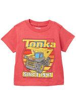 """Boys Kids Tonka Truck """"Since 1974"""" Dump Truck Short Sleeve T-Shirt (Size 4 Only)"""