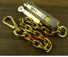 Trench lighter Brass / Stell shell WWI WWII Vintage style with Cable chain Z304