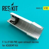 Reskit RSU32-0027 - 1/32 F-16 (F100-PW) open exhaust nozzles for ACADEMY Kit UK