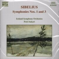 SIBELIUS SYMPHONIES Nos 1 & 3 Sakari MUSIC CD