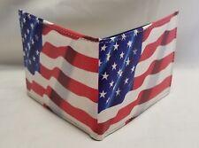 American Flag Printed Wallet Handcrafted BI-Fold Men's Vegan Leather