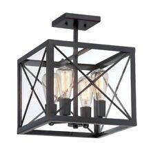 Designers Fountain 87311-SB 4-Light Satin Bronze Interior Semi Flush Mount