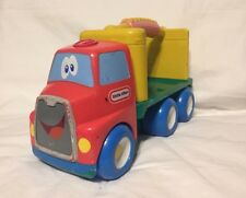 "Vintage Little Tikes 12.5"" Semi Moving Truck Tractor Trailer Big Rig Hauler Face"