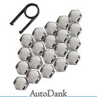 20x Kappen-Set Abdeckungen 17mm Radmuttern Radschrauben CHROM