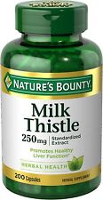 Nature's Bounty Milk Thistle 250 mg Capsules 200 ea (Pack of 2)