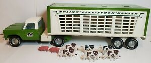 Nylint Live Stock Hauler Semi Pickup Truck Pressed Steel 1970's Great Condition!