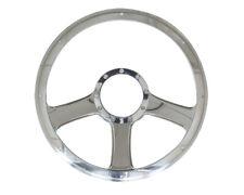 Billet Specialties 30976 Steering Wheel Polished Billet Aluminum Standard Anthem