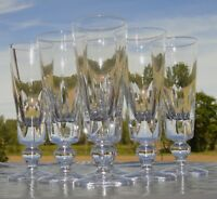 Saint Louis - Service de 6 flûtes à champagne en cristal, modèle Jersey
