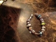 100% Authentic Pandora Charm Bracelet Size 17 with Charms sterling silver