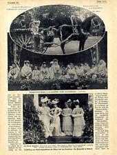 Blumenfest in Bukarest Kronprinzessin Maria in Nationaltracht von 1906