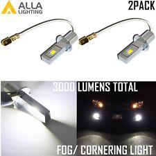 Alla Lighting LED H3 Fog Light Bulb Replacement for Halogen Convert to 6K White