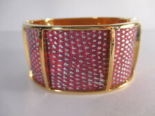 Kara Ross Wide section cuff bracelet gold coral python Cuff Bracelet Nip $345