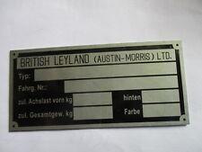 Typenschild Austin morris  mini cooper  british Leyland Schild ID-plate s29