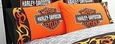 "HARLEY DAVIDSON Pillowcases (2) 20"" x 30"" Standard-New"