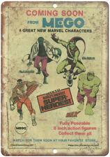 "Mego Super Heroes Hulk Falcon Goblin Comic 10"" X 7"" Reproduction Metal Sign J135"