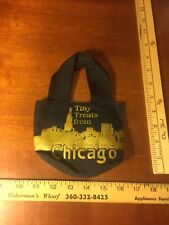 Tiny Treats From Chicago Bag for Child or Doll. Black Bag with Chicago Skyline
