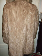 GIACCA PELLICCIA FUR PELZ VISONE MINK NERZ MIELE LIGHT BROWN JACKET 44-50 JACKE
