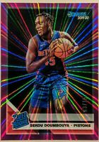 Sekou Doumbouya 2019-20 Panini Donruss Rated Rookie Purple Laser /15 RC HOT 🔥