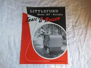 1956 Littleford model 157 portable trail-o-roller brochure